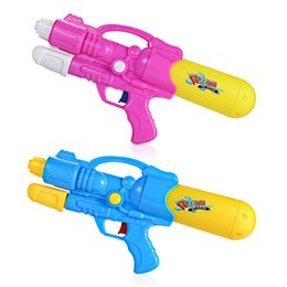 Wholesale Classic Pistols - Water Gun Plastic Dual Hole Nozzle Pull Water Gun Soaker Squirt Blaster Shooter Pistol Long Rang Toy Water Gun Toys Hot Fashion
