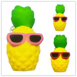Wholesale Decoration Charms - Cute Kawaii Soft Squishy Pineapple Toy Slow Rising for Children Adults Relieves Stress Anxiety Home Decoration Props