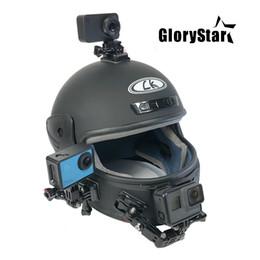 Canada Support adhésif pour casque de moto courbé pour Xiaomi yi 4K Gopro Hero 6 5 4 3+ SJCAM sj4000 Eken H9 Accessoires de caméra d'action Offre