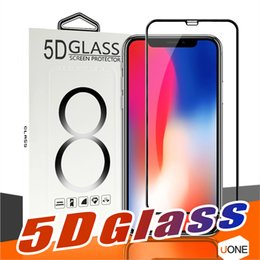 Wholesale 5d body - 5D Full Body Film Tempered Glass For Iphone 8 X Full Cover Film 3D Edge Screen Protector For iPhone 6 6S 7 8 Plus With Package