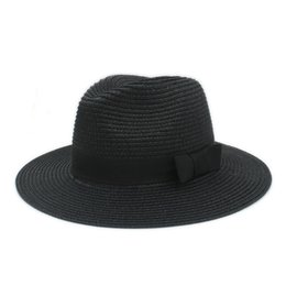 4ad88e67dcf Classic Summer Women Toquilla Straw Sun Hat For Elegant Lady Wide Brim  Panama Hat For Female Sunbonnet Beach Cap With Bowknot