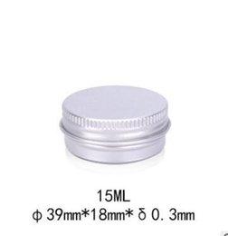 Wholesale Round Cosmetic Tins - 15g aluminum empty cosmetic container with lids 15ml small round lip balm tin solid perfume cosmetic packaging jar sample bottle