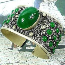 Bracelet de bijou de manchette tibet fine bijoux exquis bracelet de pierre de quartz hommes gros ailes de montre large ? partir de fabricateur