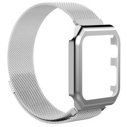 Argentina SUNBOST para Apple Watch Band 42mm, cerradura magnética de acero inoxidable iWatch Band con funda metálica para Apple Watch Series 3 Series 2 Series cheap apple watch band case Suministro