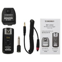 yongnuo rf Rebajas YONGNUO RF-602 / N YONGNUO RF-602 RF602 RF 602 2.4GHz Disparo remoto inalámbrico para D90 D5100 D700 D3 D5300