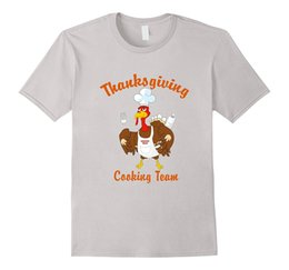 Wholesale Cook T Shirts - Thanksgiving Day Cooking Team T-Shirt