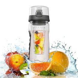 Wholesale Lemon Water - DHL 32oz Fruit Infuser Water Bottle 3 color large size Tritan water bottle juice lemon shaker custom logo