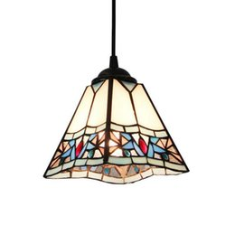 Wholesale Modern Country Pendant Lamp - Tiffany Classic Dining Room Pendant Lamp Retro American Country Balcony Pendant Light Cafe Bar Shops Pendant Lamps