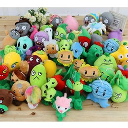 "Wholesale Plants Plush - New 5"" Plants VS Zombies Soft Plush Toy With Sucker A full 1 set 14 pcs free shipping OTH864"