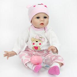 juguete de tela para niños Rebajas Juguete de muñeca de simulación de tela bebé muñeca linda de silicona chica Padre e hijo favoritos juguete 55 cm para el regalo de los niños