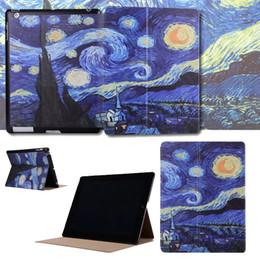Wholesale Ipad Mini Case Animal Print - Colored Drawing Painting Ipad Case PU Leather Shockproof Anti-drop Cover For ipad 2 3 4 5 6 Air 2 pro 9.7 new ipad 2017 mini 1 2 3 4 Opp Bag