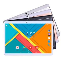 tabletas baratas al por mayor Rebajas 10 pulgadas tableta PC Deca Core 3G 4G LTE tableta Android 7.0 RAM 4 GB ROM 64 GB Dual SIM Bluetooth GPS WiFi Soporte Holandés / checo / polaco