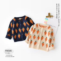 7d5cfde19ec15 Discount kids sweaters designs - baby kids clothing cardigan sweater boy  girl carrot print design buttons
