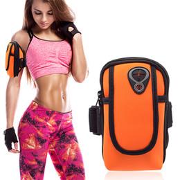 Monedero para el brazo online-Gimnasio corriendo jogging deportes cartera bolsa brazalete impermeable caso para celular brazalete al aire libre 7 colores 580
