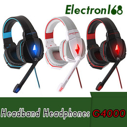 Samsung freies spiel online-KOTION EACH G4000 Stereo Gaming Kopfhörer Headset Stirnband mit Mic Lautstärkeregler für PC Spiel DHL Free