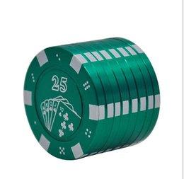 2019 chip da poker in metallo Metal Chip Poker Cigarette Shredder 1234 Taglia smerigliatrice sconti chip da poker in metallo