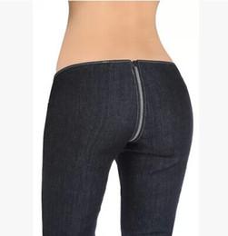 2019 vaqueros hipsters Hipster Sexy Entrepierna Cremallera Pantalones Mujeres Diseñador Jeans cintura baja Skinny Denim Lápiz Pantalones Calientes Pantalones Casuales rebajas vaqueros hipsters