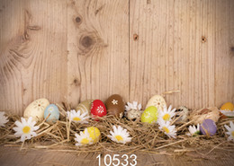 Wholesale Photography Backdrops For Kids - Board Easter Eggs Photo Background for Photo Studio Camera Fotografica Vinyl Cloth Photography Backdrops for Holiday Party Kid 10533