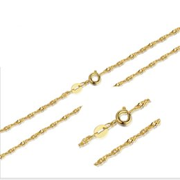 Wholesale Dangling Accessories - Silver necklace chain classic gold color water wave chain simple accessories fashion chain necklace