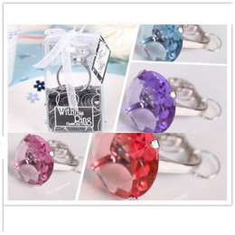 "Wholesale Supplier Party Supplies - new ""With This Ring"" Engagement Ring Key Chain Novelty Giant Diamond Keychain Jewelry party supplier Gift Box Z48"