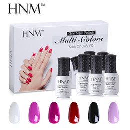 Wholesale Permanent Kit - Hnm 6pcs  Set Uv Gel Nail Polish Kit Manicure Diy Nail Art Gelpolish Box 10 Series 8ml Semi Permanent Nail Gel Polish Sets
