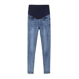 Argentina Cintura elástica Denim Jeans de vientre de maternidad Otoño Primavera Invierno Pantalones de lana Ropa para mujeres embarazadas Embarazo Lápiz Pantalones cheap pregnant jeans Suministro