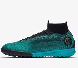 new style b8ce5 2d40f 2019 nuevo cr7 zapato deportivo 2018 nuevos zapatos de fútbol Superfly X 6  Elite CR7 TF