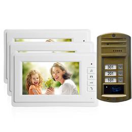 Vendita calda Casa intelligente porta campana 7 pollice LCD monitor filo Video porta telefono allarme di sicurezza Porta di accesso citofono sistema talk-back Spedizione gratuita da