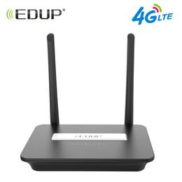 2019 gs mobil EDUP 300Mbps 4G LTE FDD Drahtloser Wifi Router 802.11b / g / n Wi-Fi Router Mobiler Hotspot Router CPE mit Sim Slot und LAN Port günstig gs mobil