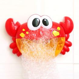 tipos de brinquedos para bebês 12 meses Desconto Bebê Banho de Brinquedos Para As Crianças Engraçado Banheira Soap Crab Automático Criador de Bolha Brinquedo Musical Ventilador Vermelho Crianças Brinquedos