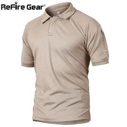 sécheur à engrenages Promotion Refire Gear Polo militaire tactique hommes Été nous armée Camouflage Polo Man 's respirant bras de séchage rapide bras Polos