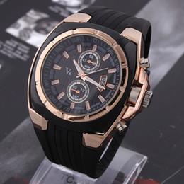 Горячая V6 часы большой круглый циферблат черный силиконовый кварц аналоговый дизайн мужчины спортивные часы Мужские спортивные наручные часы 3 цвета mascuion relojes supplier v6 men wristwatch от Поставщики мужские наручные часы v6