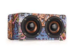 Wholesale bluetooth loud speaker - Wooden Loud Portable Speakers Bluetooth Speaker for Car Trend Mobile phone Bluetooth HIFI Speaker Bluetooth Home High Power Multimedia Music