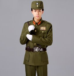 Wholesale china costume - Sha Jia Bang Chinese KMT special costume art stage ancient military Uniform performing Army General Clothing in the Republic of China