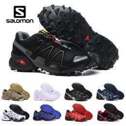 Zapatos través funcionamiento de velocidad online-2018 New Salomon Speed Cross 3 CS III exterior para hombre Camo Rojo Negro Zapatillas deportivas para hombre Speed Crosspeed 3 zapatillas eur 40-46