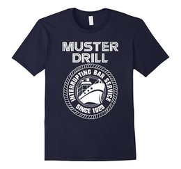 Wholesale Green Printing Services - Muster Drill Interrupting Bar Service 1928 Cruise T-Shirt