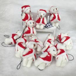 muñeca de dibujos animados de doraemon Rebajas Regalos de juguete de felpa 100PCS / LOT de Navidad Conjunto Oso del animal relleno de la muñeca de los osos de peluche rellenos de 6 cm colgante niños Juguetes de Navidad GMR084