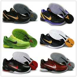 Wholesale Gold Snake Shoes - 2017 Official Classic Kobe 6 Retro Basketball Shoes for Top quality Men's kobe VI 6s Green Snake Black Gold Purple Sports Sneakers Size 7-12
