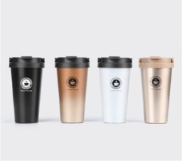 Wholesale Tea Bottle Thermos Flask - Vacuum Insulated Travel Coffee Mug Stainless Steel Tumbler Sweat Free Tea Cup Thermos Flask Water Bottle 500ml 17oz