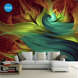 Wholesale Abstract Design Wallpaper - XCHELDA 3D Mural Wallpapers Custom Painting Colorful Abstract Design Background Bedroom Living Room Wall Murals Papel De Parede