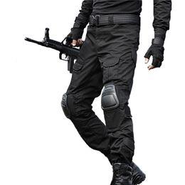 Joelho pad carga calças on-line-Calças táticas calças cargo Homens Camuflagem Pantalon sapo joelheiras SWAT Trabalho Calças Exército Calças de Combate