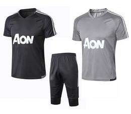 Argentina Jersey de entrenamiento de fútbol jersey 2018 19 Copa de la UEFA uniforme de fútbol pantalón corto de manga corta apariencia gris juego de los deportes de los hombres Suministro