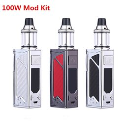 Wholesale multi screens - electronic cigarette 100W box mod Huge Vapor 2200mah bulit-in battery 3.5ml tank Mech Box vape pen with LED screen e-cigarettes Vape mod kit