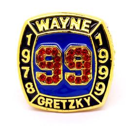 anillos de la serie mundial Rebajas Alta calidad 1978 1999 Wayne Gretzky # 99 salón de la fama del campeonato de la serie mundial anillo tamaño 11 fabricantes envío rápido
