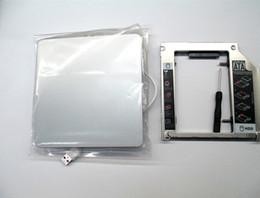 "Macbook pro hdd online-Freeshipping nuevo caso para Apple MacBook Pro unibody 13"" Caso de DVD HDD SSD OptiBay adaptador USB Kit Caddie"