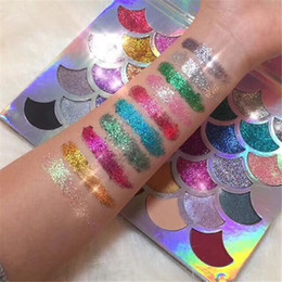 Wholesale Mermaid Mix - Fashion Women Beauty Cleof Cosmetics The Mermaid Glitter Prism Palette Eye Makeup Eyeshadow Palette
