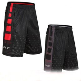 Wholesale red snowflakes - Basketball shorts Basketball Training Shorts, male elite snowflake loose exercise, fitness running short pants breathable five pants