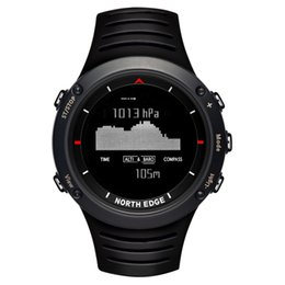 Wholesale weather barometers - NORTH EDGE Men Sports Digital Watch Altimeter Barometer Compass Thermometer Weather Forecast Watches Running Climbing Wristwatch