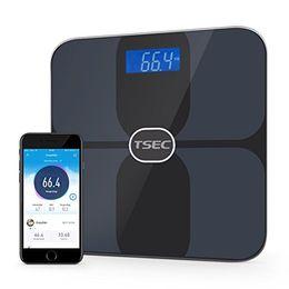 2019 escalas colher atacado Escalas de gordura corporal Bluetooth Digital inteligente peso escala 180 kg 400 lbs saúde precisas Metrics corpo composição Analyzer com IOS Android App