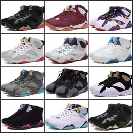 Wholesale Kinder Sport - Best Quality Air Retro 7 Basketball Shoes Classic Retro VII 12 kinds of mixed colors High Training Discount Outdoor Sports Sneakers